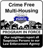 Crime Free Multi-Housing Sign